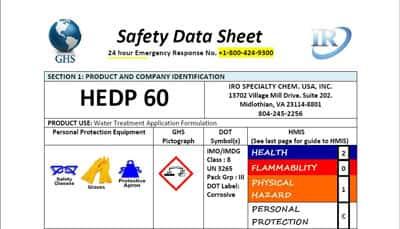 HEDP-60-sds